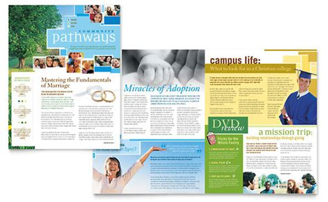 Community Church Brochure Template Word Publisher Church Brochure Template Publisher