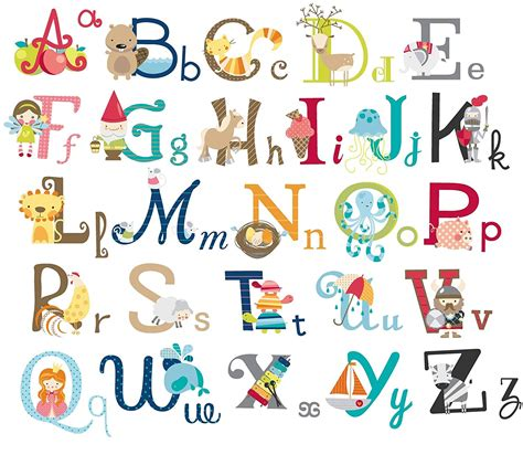 big graphic alphabet letters room nursery wall decal