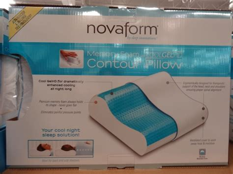 novaform memory foam cool gel contour pillow