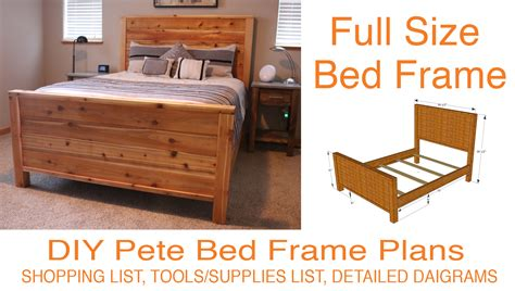 full size bed width diy bed frame plans how to make a bed frame with diy pete