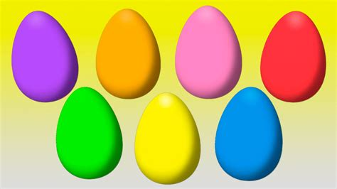 animated surprise easter eggs for learning colors part ii