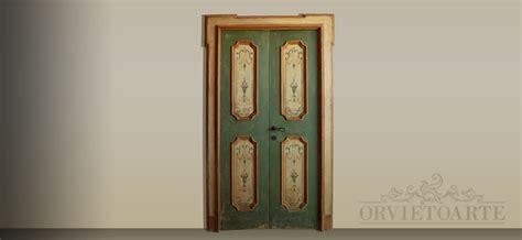 porta decorata orvieto arte porta decorata in stile marchigiano con