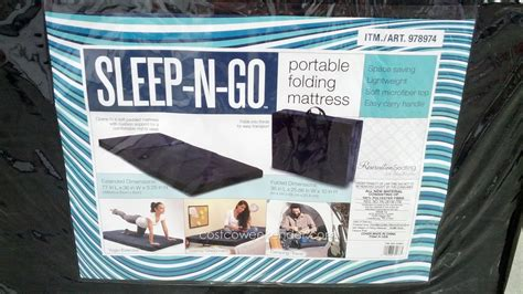 foldable bed costco ace bayou sleep n go portable folding mattress costco