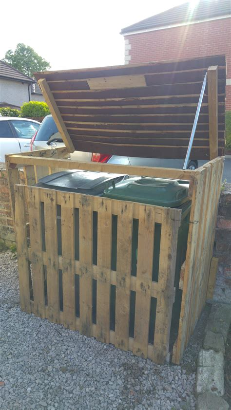 trash can storage pallet garbage bin storage shed bin storage pallets and