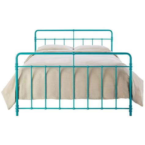 turquoise bed frame victoria bronze queen bed frame 4092239 the home depot
