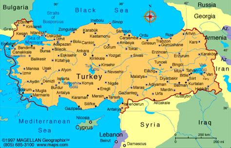 turkey on the map of europe atlas turkey