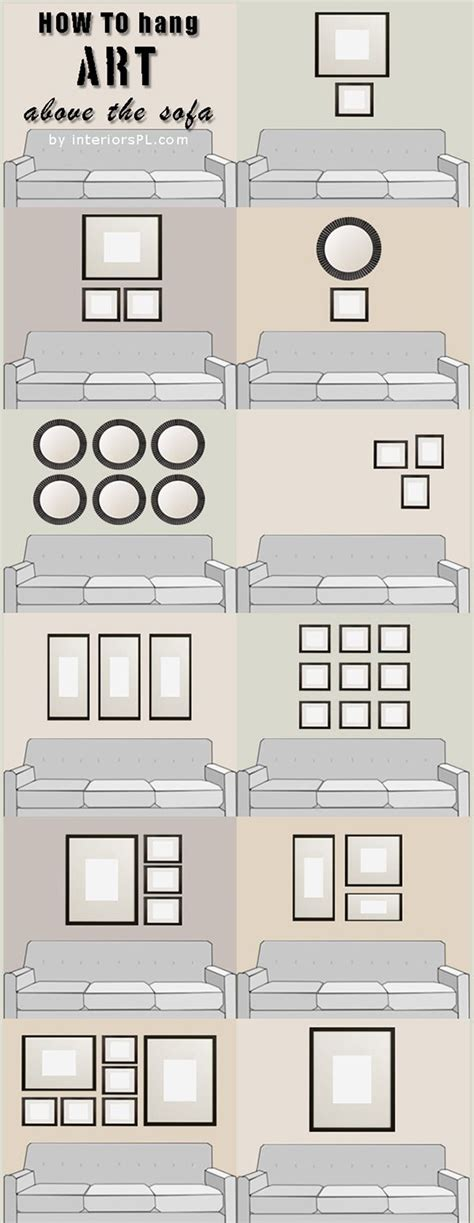 hanging above sofa living room ideas