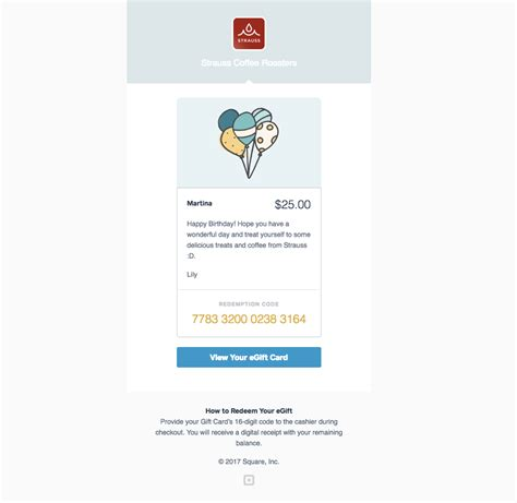 Sqaure Egift Card Template by Square Egift Cards Square Support Center Us