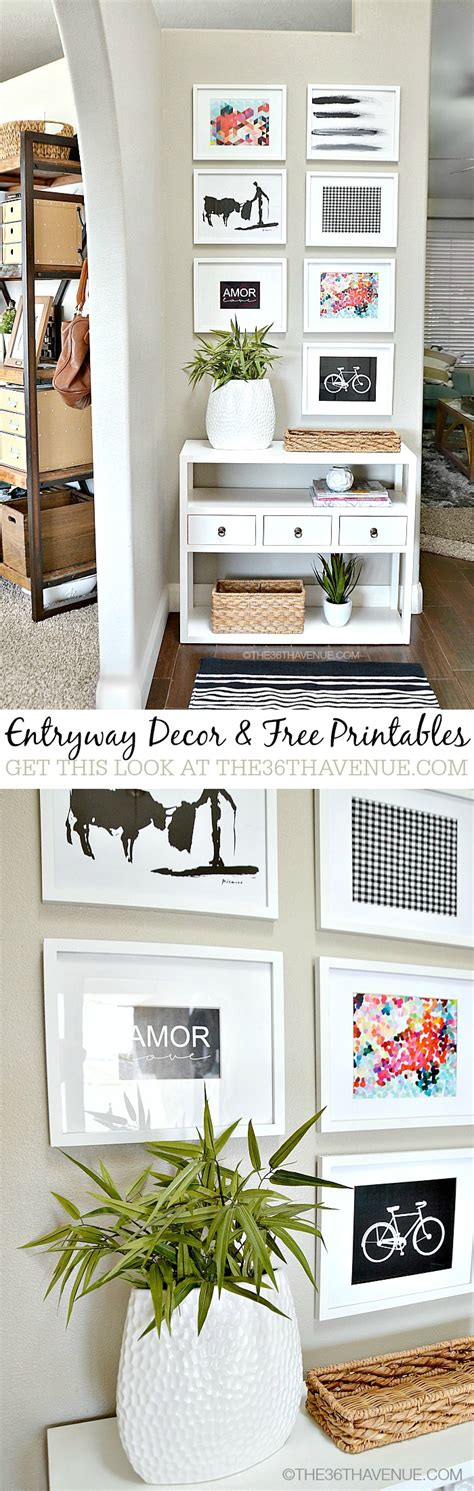 home decor entryway and free printables the 36th avenue