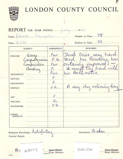 report card from the 1950 template school report card school report card alameda middle