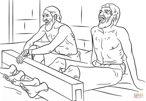 paul and silas sing in prison coloring page free