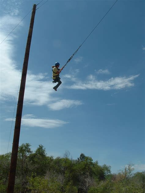 giant rope swing challenge course