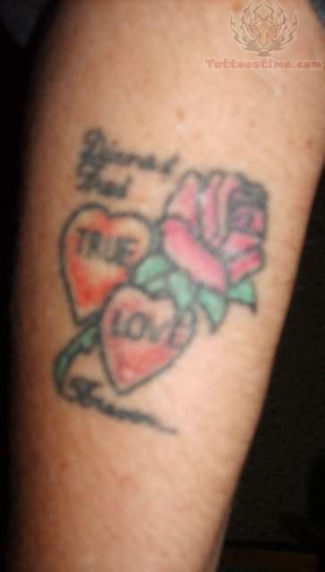 tattoo love flower love heart and flower tattoo