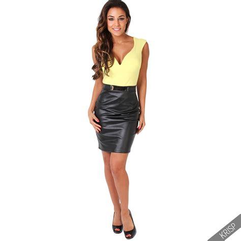 pvc leather skirt dress ala