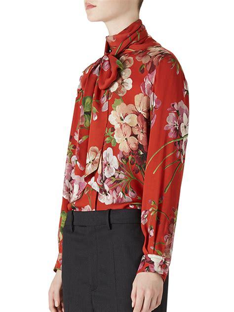 Blouse Merk Jucci 2 lyst gucci floral print blouse