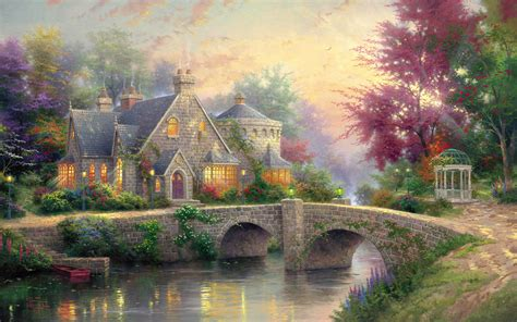 Cottage Wallpapers by Free Beautiful Cottage Computer Desktop Wallpaper