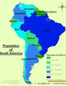 population map of south america angela s population of south america