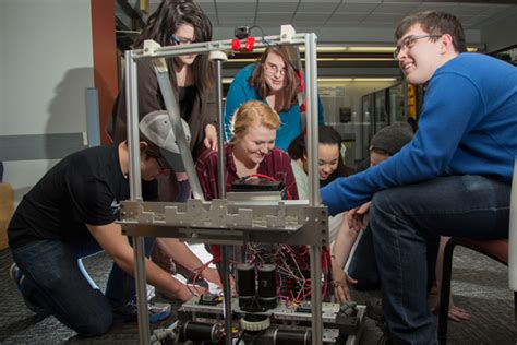 Um Flint And Genesee Early by Um Flint Sponsored Robotics Team Readies For Competition