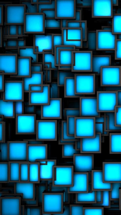 wallpaper blue cube 3d blue cube wallpaper www pixshark com images