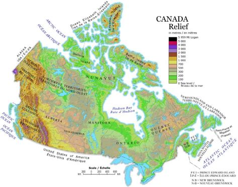canadian map facts canada map
