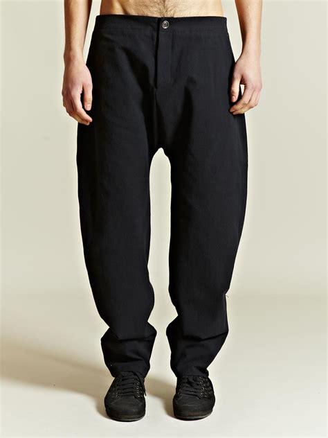 mens crotch grooming marvielab marvielab mens drop crotch pants in black for