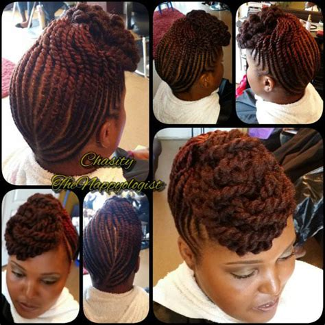 how to flat twist and add marley hair signature twist updo with marley hair by nappyology101llc