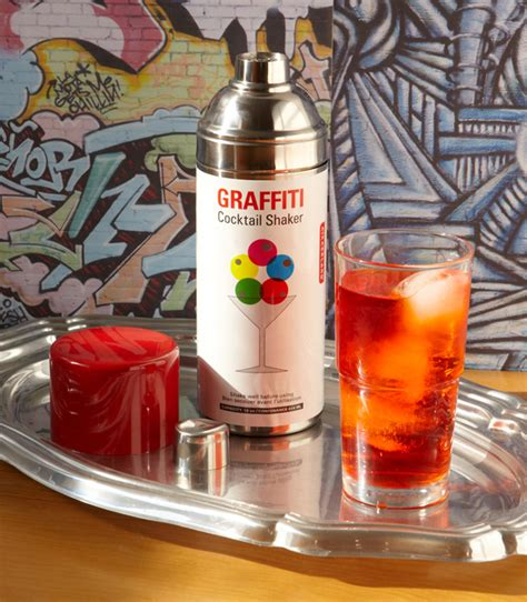 spray paint shake graffiti cocktail shaker