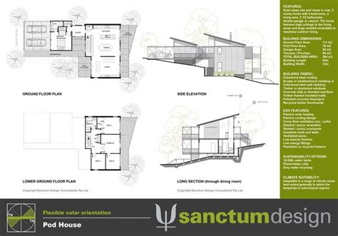 house floor plans sloping blocks sanctum design environmentally responsible home design