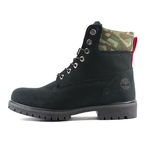pack boots mens timberland 6 inch premium camo pack black nubuck