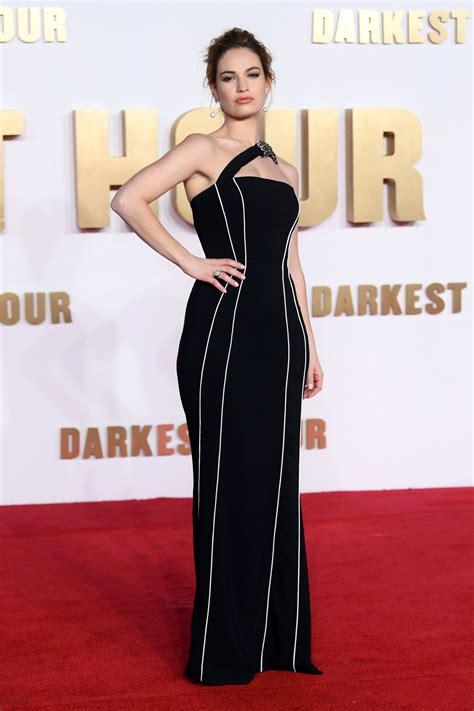 darkest hour premiere lily james quot darkest hour quot premiere in london