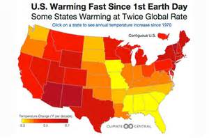 map of us with global warming climate change by state an interactive map of the u s