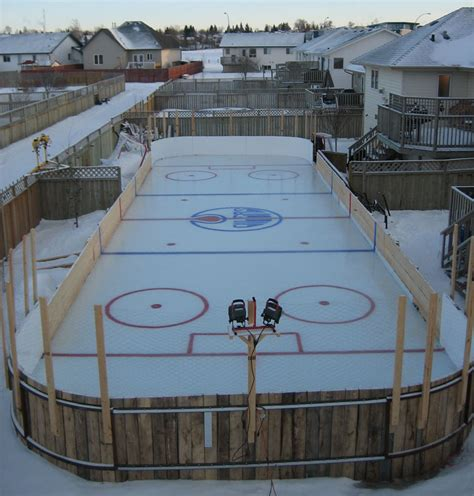 Backyard Rink Ideas Backyard Hockey Rink Outdoor Furniture Design And Ideas