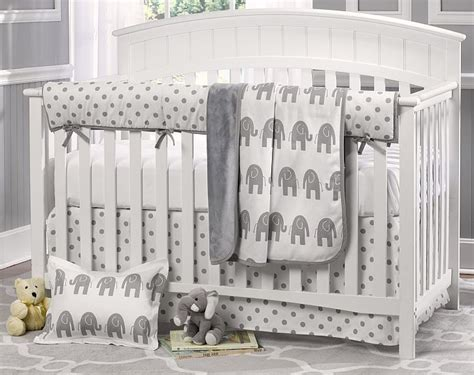 Elephant Bedding Crib Gray Elephant Nursery Liz Roo Gray Elephant 4 Crib Bedding Set N Cribs
