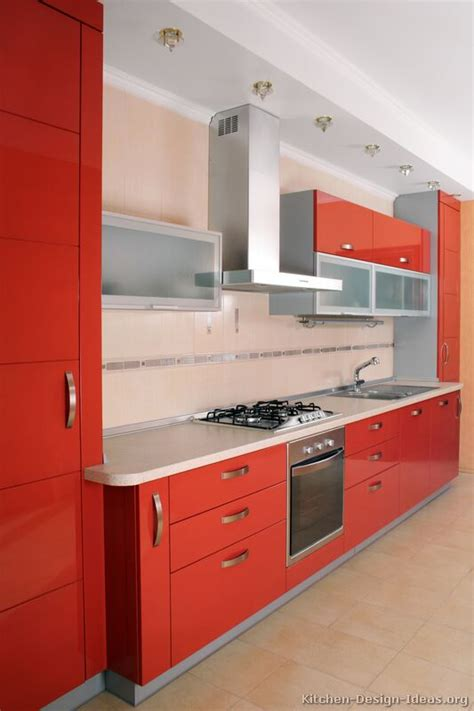 kitchens with red cabinets pictures of kitchens modern red kitchen cabinets