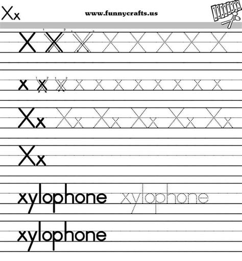 alphabet worksheets letter x letter x handwriting worksheets for preschool to first