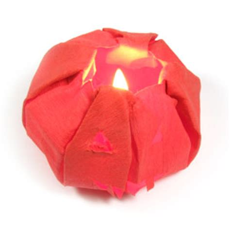 Origami Box Lantern - how to make an origami o lantern for page 20