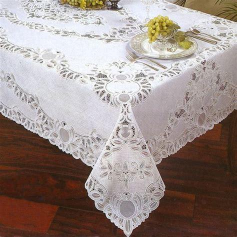 Bridal Shower Tablecloths by 72 Quot Crochet Vinyl Lace Tablecloth White