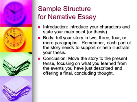 Introduction To A Narrative Essay by Narration Essay A Sle Structure Ppt