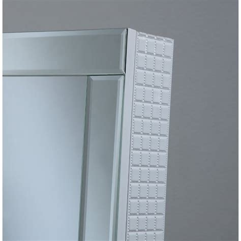 white jewelry armoire mirror coaster jewelry armoire accent mirror in white 901827ii
