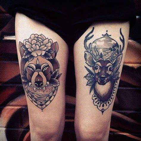 animal tattoo on leg tatuajes en la pierna