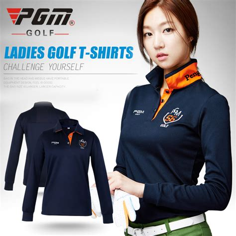 Polo Panjang Longsleeve Pgm Golf pgm golf clothes golf s sleeve polo shirt