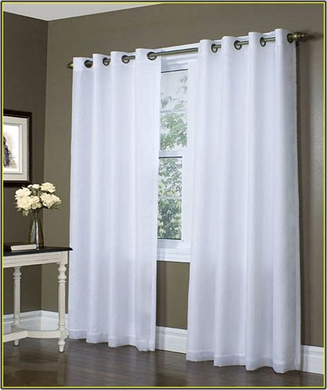 Blackout Curtains White Grommet Blackout Curtains White Home Design Ideas