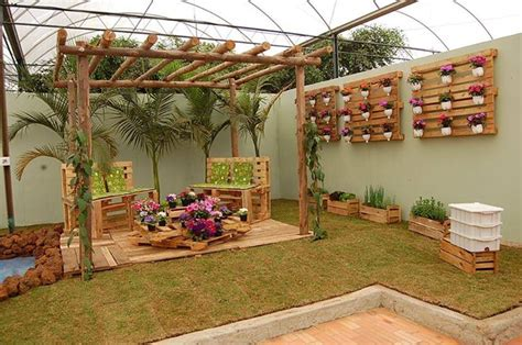 garden decoration with pallets garden decoration made from recycled wood home design