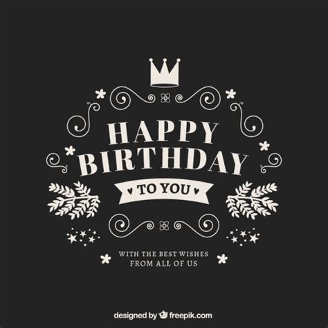 happy birthday retro design happy birthday card in retro style free vector