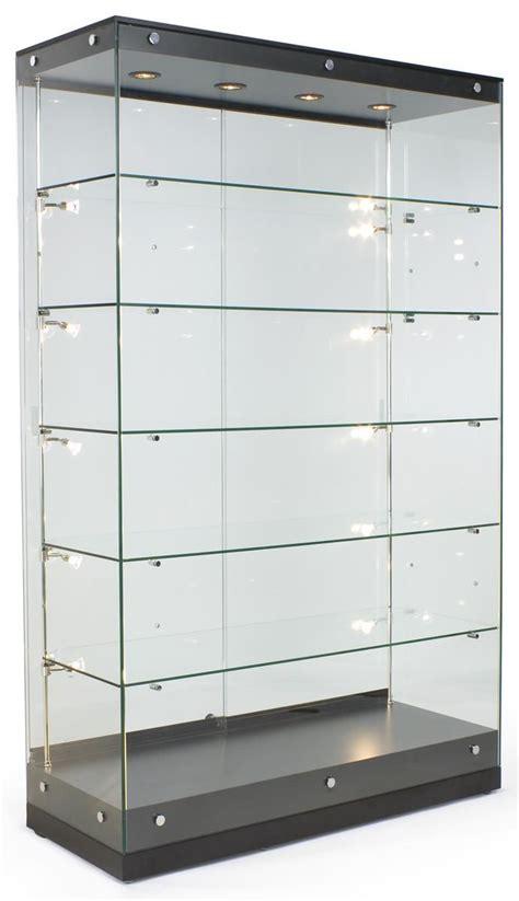 glass display cabinet the design tabloid 48 quot trophy display case w frameless design adjustable