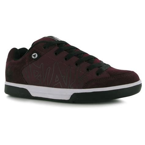 airwalk sneakers airwalk outlaw skate shoes mens burgundy casual trainers