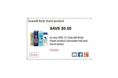 suave body lotion coupons printable
