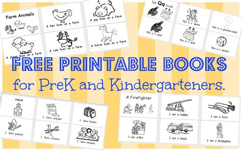 Printable Kindergarten Books | wild rumpus school house printable books pk k