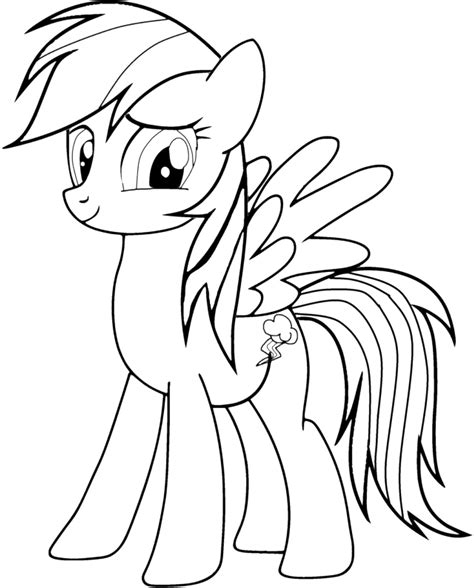 Rainbow Dash Printable Coloring Pages free coloring pages of rainbow dash