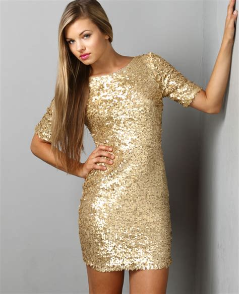 Glitera Dress gold sequin dress dressed up